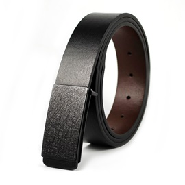 Casual Smooth Buckle Cowhide Men's Belt