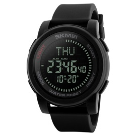 Student Sports Digital Movement Silicone Band Men's Watch