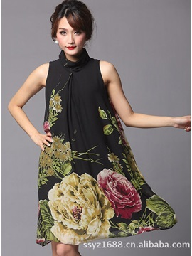 New Fashion Summer Floral Imprint Day Dress