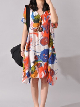 Tidebuy Floral-Print Shift Dress