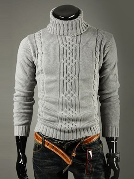 Hot Sale Lapel Jacquard Men Sweater