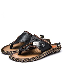 Crochet Buckles Thong Men's Sandals