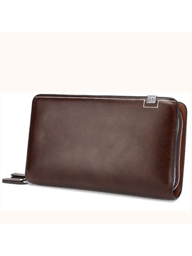 Big Capacity Double Zipper Men' Wallet
