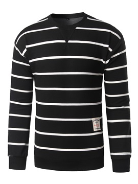 Stripe V-Neck Men's Long Sleeve T-Shirt