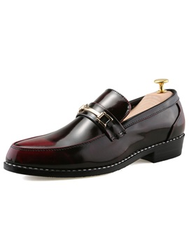 Patent Leather Brush Off Men's Dress Shoes