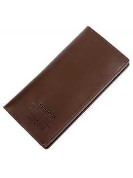 Multi Card Clip Men's Long Wallet