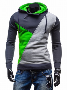 Color Block Vogue Pullover Men's Hoodie