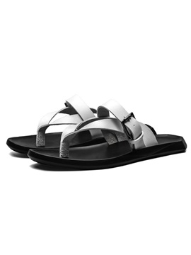 PU Slip-On Plain Thong Beach Roman Flip-Flops
