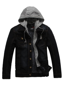 Warm Slim Hooded Single-Breasted Baggy Men's Coat