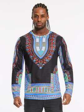 Round Neck African Dashiki Men's T-Shirt
