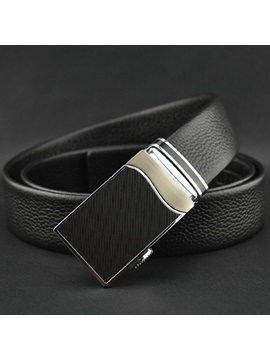 High Quality Automatic Buckle Men's Leather Belt