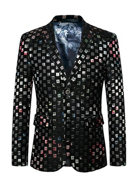 Fashion Style Notched Lapel Men's Blazer
