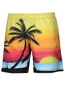 Tidebuy Sunset Swim Trunks Men's Beach Board Shorts
