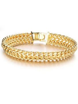 Ethnic 18K Gold E-plating Men's Bracelet