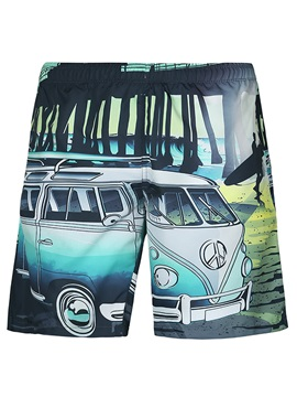 Tidebuy Cartoon Print Swim Trunks Men's Beach Board Shorts