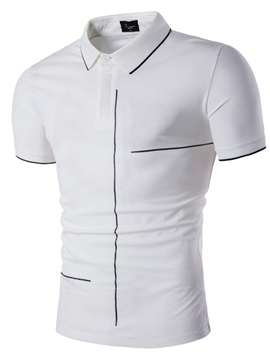 Tidebuy Plain Simple Design Men's Slim Fit Polo