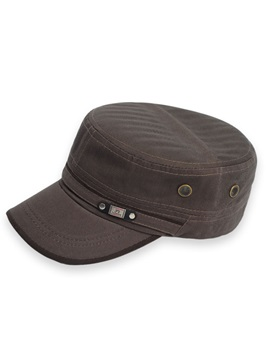 Pure Color Cotton Sunshade Men's Military Hat
