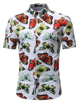 Tidebuy Casual Animal Print Men's Short Sleeve Shirt