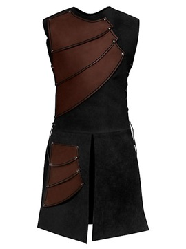 Tidebuy Side Strappy Coffee Men's Medieval Stage Costume
