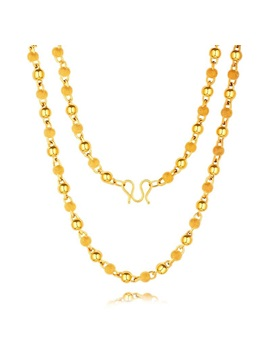 African Style Gold Plating Bead Multi-Layer Men's Necklace