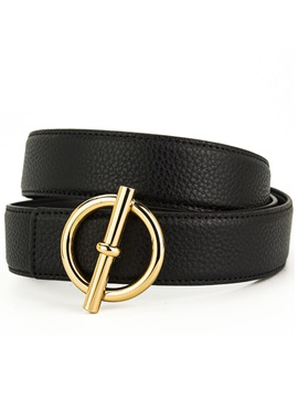 Fashion Metal Buckle Thread PU Leather Men's Belt