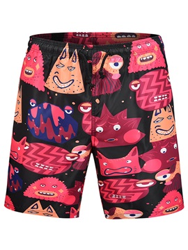 Tidebuy Cartoon Print Loose Men's Board Shorts