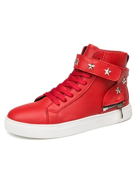 PU Velcro High-Cut Upper Men's Sneakers