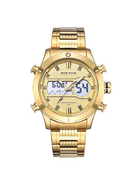 Business LED Digital Movement Stainless Steel Men's Watch