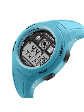 Candy Color Digital Safety Silicone Strap Kid's Watch
