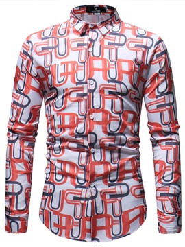 Tidebuy Color Block Geometric Men's Casual Shirt