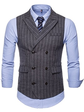 Tidebuy Double-Breasted Stripe England Style Men's Vest