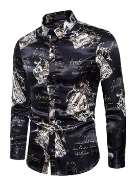 Unique Print Men's Casual Shirt
