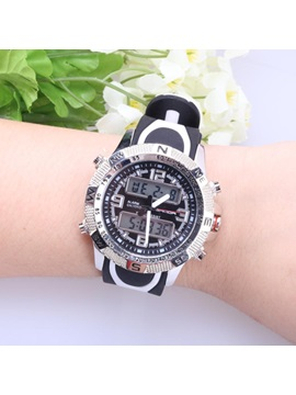 Analog-Digital Display Shock Resistant Student Sport Watch