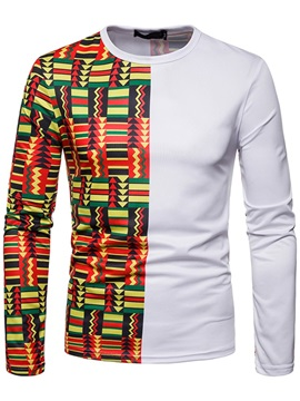 Color Block Geometric Patchwork Men's T-Shirt
