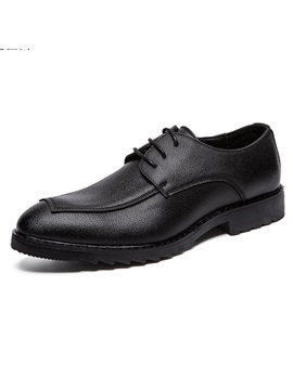 PU Plain Low-Cut Upper Lace-Up Men's Casual Shoes