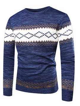 Pullover Color Block Men's Sweater