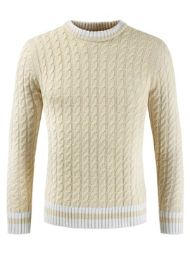 Plain Round Neck Men's Pullover Sweater