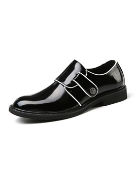 PU Round Toe Low-Cut Upper Men's Dress Shoes