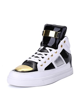 Color Block High-Cut Upper Men's Sneakers