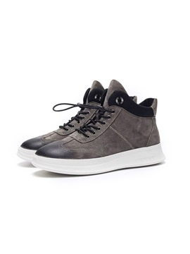 PU Elastic Band High-Cut Upper Men's Casual Shoes