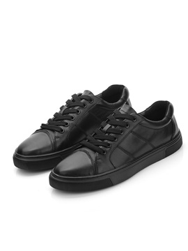 Plain Round Toe Lace-Up Men's Casual Shoes