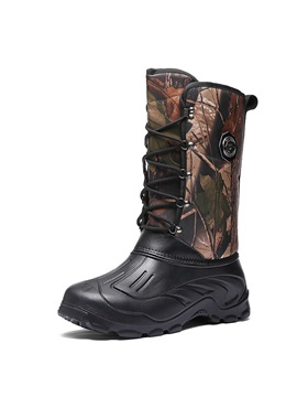 Round Toe Waterproof Camouflage Men's Snow Boots