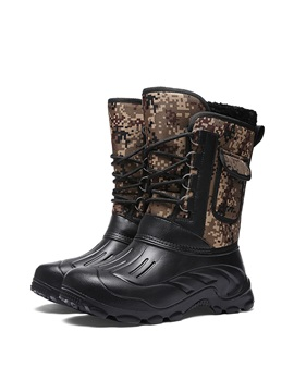Round Toe Waterproof Men's Winter Boots