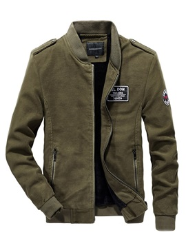 Casual Stand Collar Warm Men's Jacket