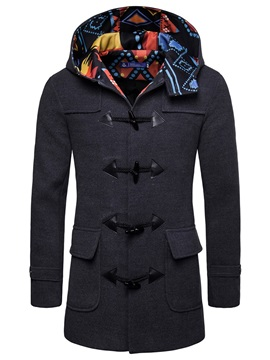 Color Block Patchwork Men's Winter Coat