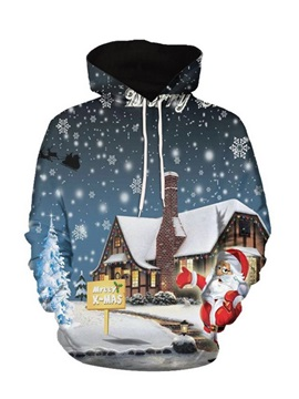 Cartoon Print Hooded Men's Hoodie