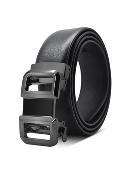 Casual Alloy Automatic Buckle PU Leather Men's Belts