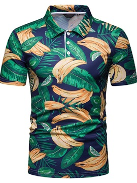 Summer Print Short Sleeve Men's Shirt