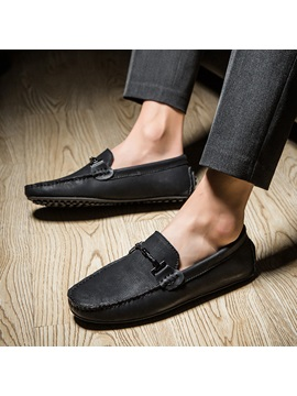 Plain Round Toe Men's Casual Shoes