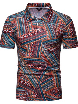 Vintage Ethnic Print Men's Polo
